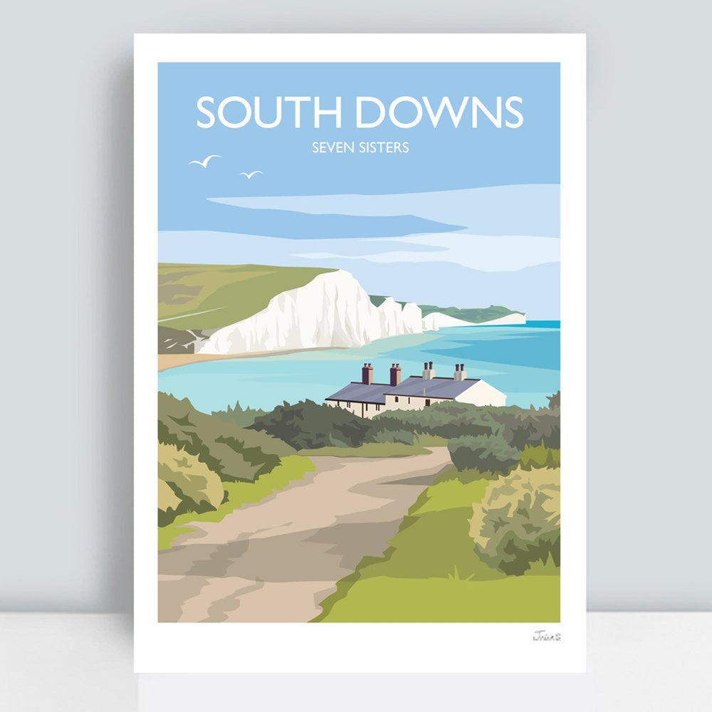 South Downs Travel Art Print