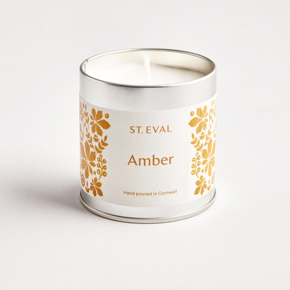 ST EVAL AMBER, FOLK SCENTED TIN CANDLE