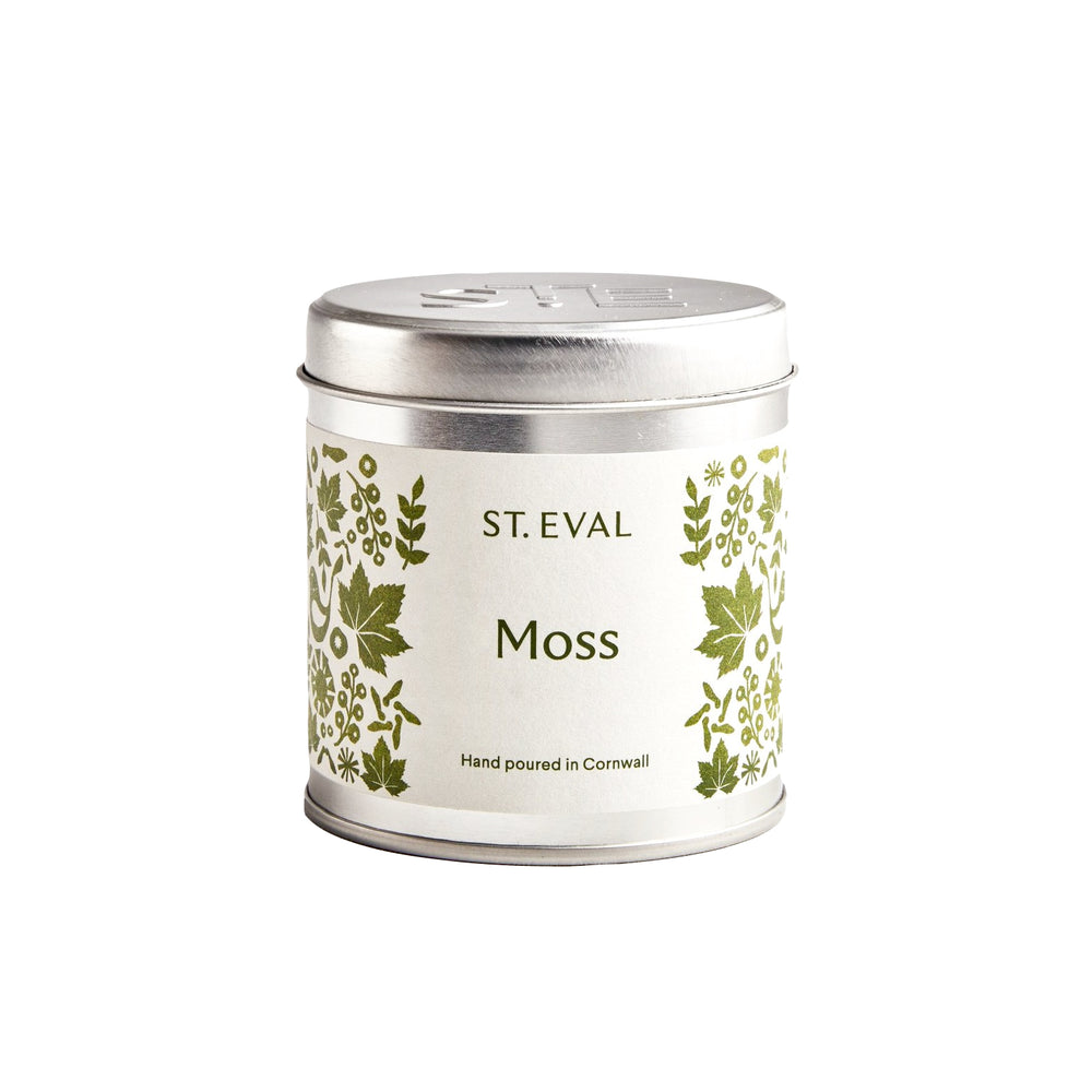 St Eval Moss Scented Tin Candle