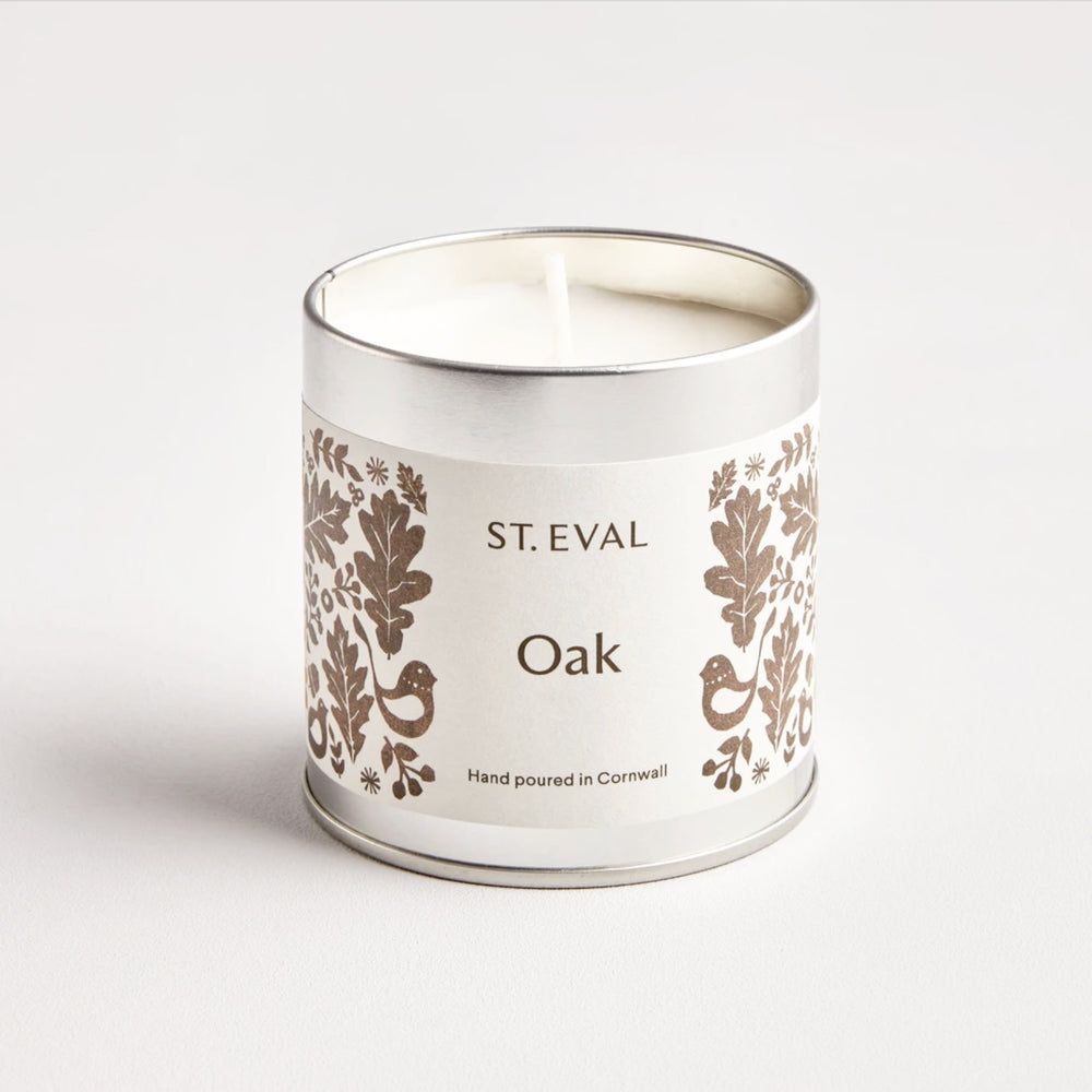 ST EVAL OAK, FOLK SCENTED TIN CANDLE