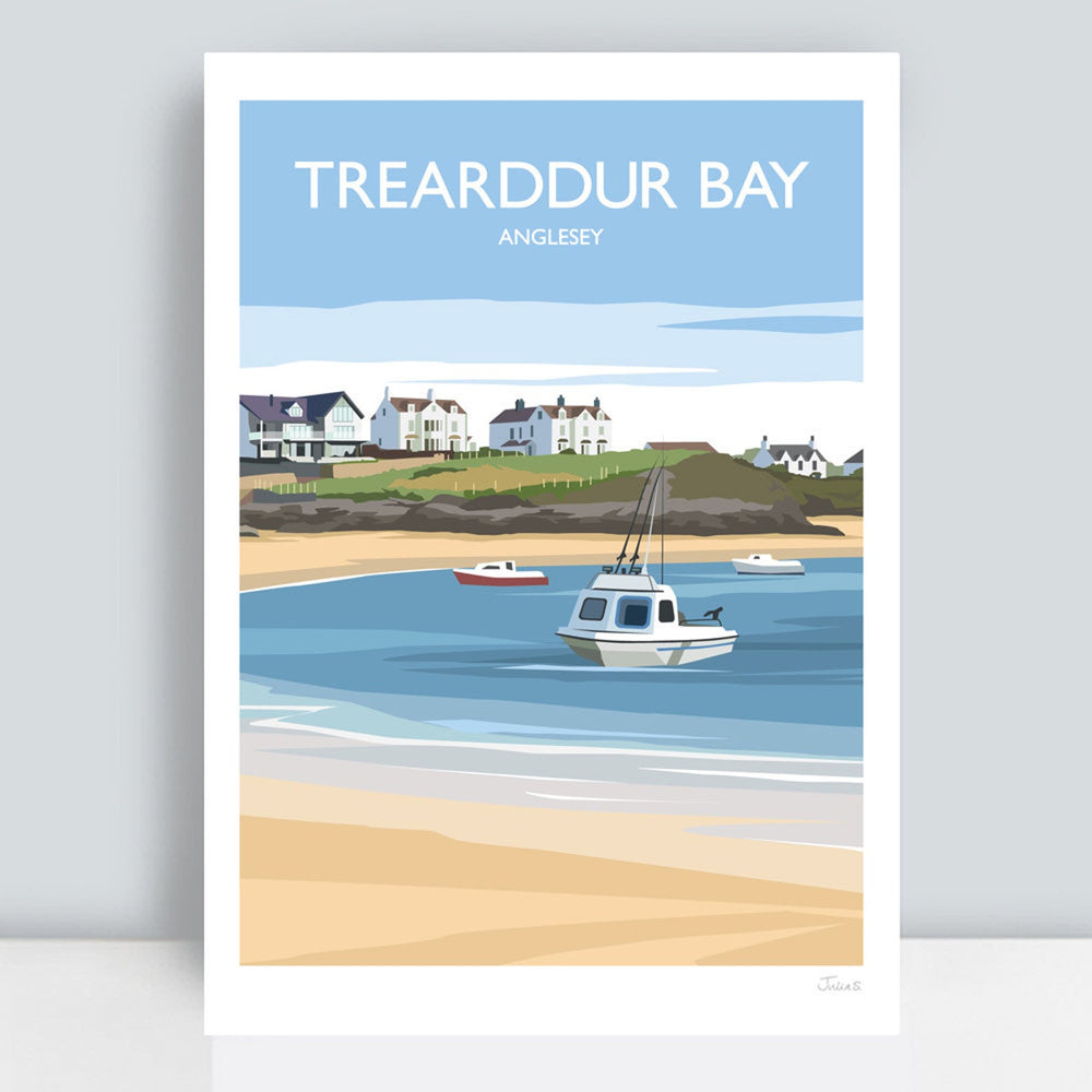 TREARDDUR BAY TRAVEL ART PRINT