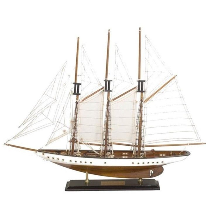 Triple Mast Sailing Ship Model