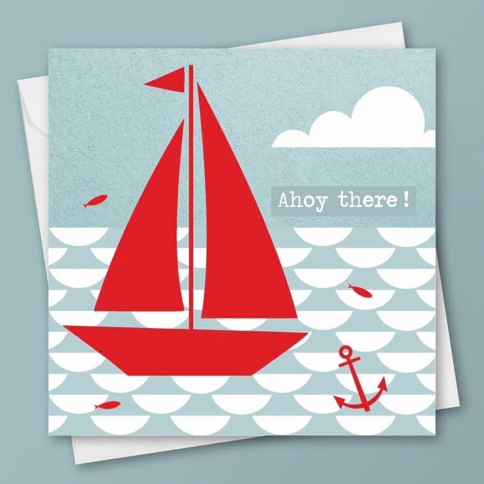 Ahoy there! Blank Greeting Card