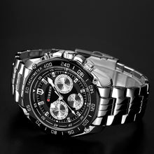 Load image into Gallery viewer, Men's Water Resistant Quartz Stainless Steel Watch
