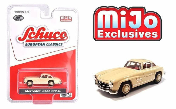 * PRE ORDER * Schuco 1:64 MiJo Exclusives - European Classics - Mercedes-Benz 300 SL (Ivory) - Limited to 1200 pieces