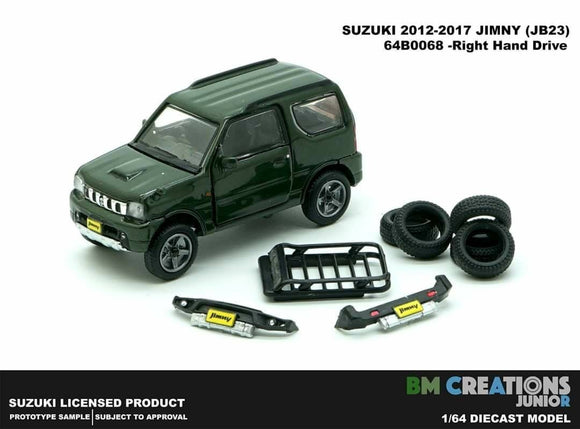 BM Creation 1/64 Suzuki Jimny (JB23) Green (Right Hand Drive) Japan Special 660cc Engine