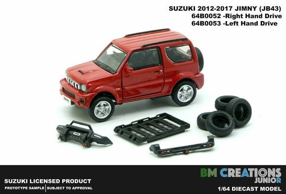 BM Creation 1/64 Suzuki Jimny (JB43) Red (Right Hand Drive) 1300cc