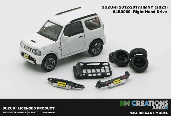 BM Creation 1/64 Suzuki Jimny (JB23) White (Right Hand Drive) Japan Special 660cc Engine