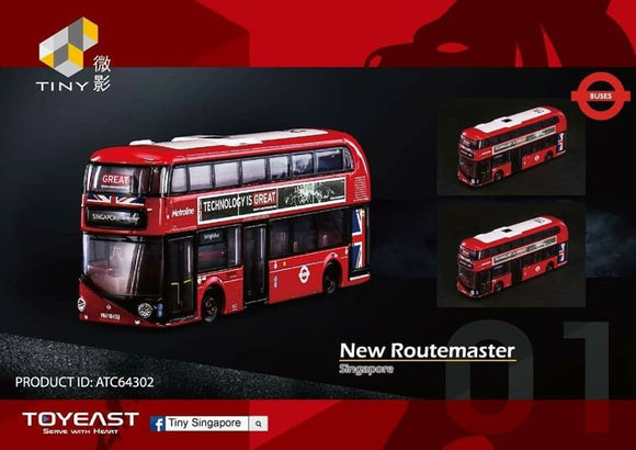 TINY 1/110 NEW ROUTEMASTER * SINGAPORE EDITION *