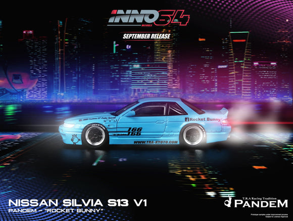 INNO 64 NISSAN SILVIA S13 ROCKET BUNNY V1 Light Blue