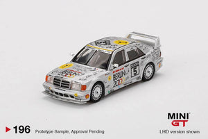"* PRE ORDER * MINI GT #196 1:64 Mercedes-Benz 190E 2.5-16 Evolution II #5 ""Berlin"" 1992 DTM Zolder"