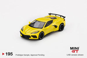 * PRE ORDER * MINI GT #195 1:64 Chevrolet Corvette Stingray Accelerate Yellow Metallic