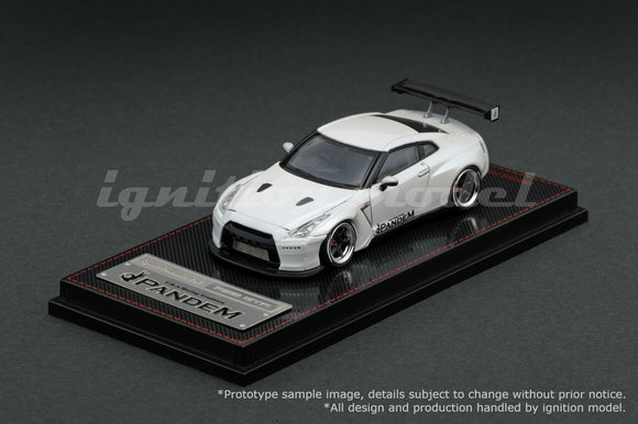 IGNITION MODELS 1/64 PANDEM R35 GT-R WHITE (RA-WHEEL) - IG1398