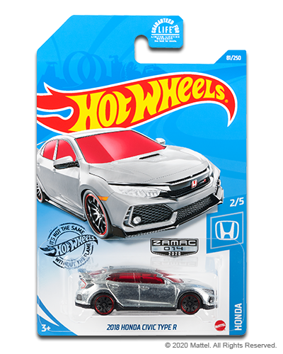 HOT WHEELS 2018 HONDA CIVIC TYPE R ZAMAC - EXCLUSIVE