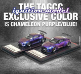 1/64 Ignition Model Chameleon Purple Blue Pandem GT-R R35 and Toyota 86 TAGCC19 set