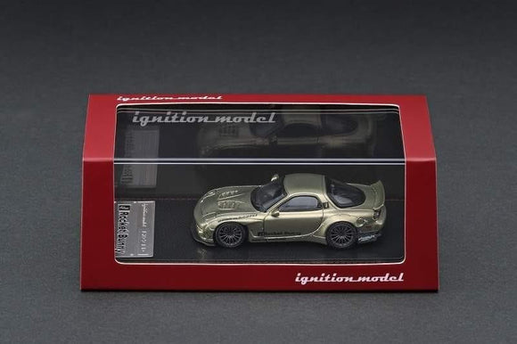 Ignition Model 1/64 Rocket Bunny RX-7 (FD3S) Green Metallic - JAPAN EXCLUSIVE  IG1409