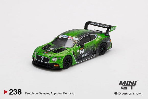 * PRE ORDER * MINI GT #238 1/64 Bentley Continental GT3 #7  2020 Liqui-Moly Bathurst 12 Hrs Winner Bentley Team M-Sport  (RHD)