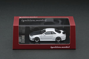IGNITION MODEL IG1868 1/64 NISSAN SKYLINE GT-R R34 WHITE