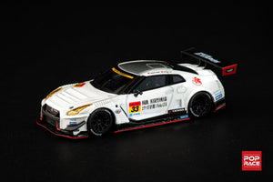 MINI GT X POP RACE 1/64 Nissan GT-R Nismo GT3 X Works/ EVA Racing Test Unit #33 - Super GT Okayama Test Day