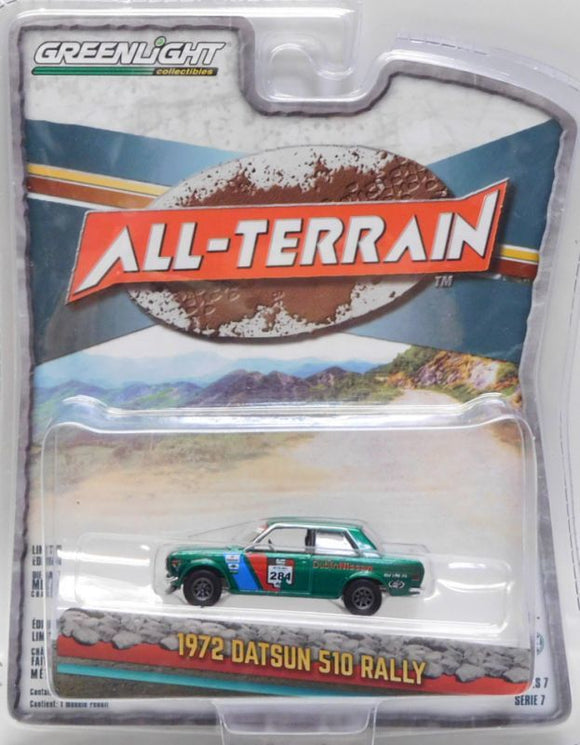 GREENLIGHT ALL-TERRAIN 1972 DATUN 510 RALLY ⭐⭐ GREEN MACHINE ⭐⭐