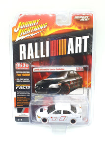 Johnny Lightning X Mijo Exclusive 2004 Mitsubishi Lancer Evolution ⭐ White Lightning Chase ⭐