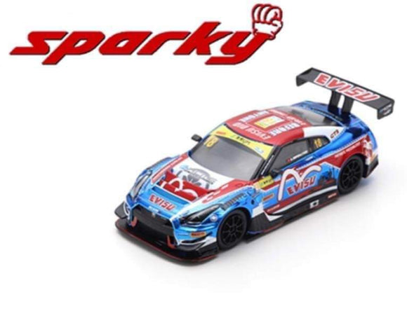 Spark 1:64 Sparky Nissan GT-R Nismo GT3 - KCMG - 10TH FIA GT World Cup Macau 2018 - Alexadre IMPERATORI #18 (Blue/Red/White)