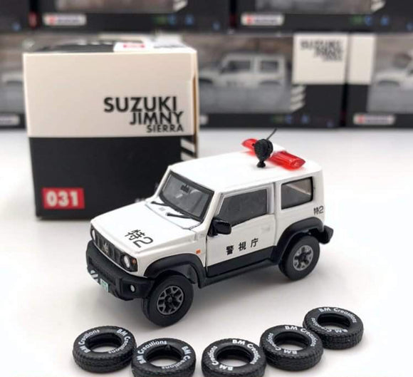 BM Creations 1:64 Suzuki Jimny Japan Police Car Right Hand Drive diecast