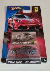 HOT WHEELS 2009 FERRARI RACER #13 - 612 SCAGLIETTI - DARK GREY