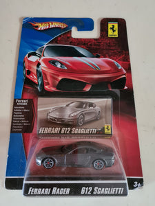 HOT WHEELS 2009 FERRARI RACER #13 - 612 SCAGLIETTI - DARK GREY (B)