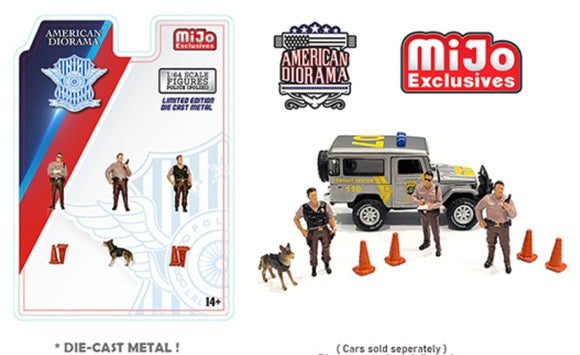 American Diorama 1:64 Mijo Exclusive Indonesia Polisi Figures Set Limited Edition 4,800 Set