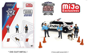 American Diorama 1:64 Mijo Exclusive Metrol Police Figures Set Limited Edition 4,800 Set - *PRE ORDER*