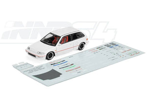 INNO 64 HONDA CIVIC EF9 White Edition W/ Separate Decals Sheet