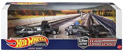 HOT WHEELS TEAM TRANSPORT RACING LINE UP PREMIUM SET