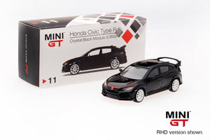 MINI GT 1/64 Honda Civic Type R Crystal Black Modulo Edition 【Malaysia Exclusive】