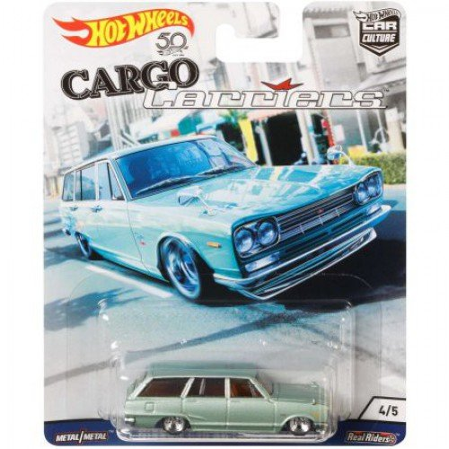 HOT WHEELS 2018 RELEASE CARGO CARRIERS CAR CULTURE SERIES LIGHT GREEN NISSAN C10 SKYLINE WAGON (1969 NISSAN SKYLINE VAN)