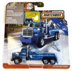 Matchbox Working Rigs Blue Western Star 6900XD Tow Truck