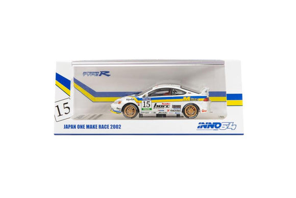 INNO 64 HONDA INTEGRA TYPE - R DC5 #15 M LINE VERNO ONE MAKE RACE 2002 (WHITE)