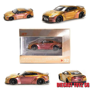 MINI GT 1:64 LB NISSAN GTR TOYEAST EXCLUSIVE ( DUCKTAIL ) MAGIC BRONZE