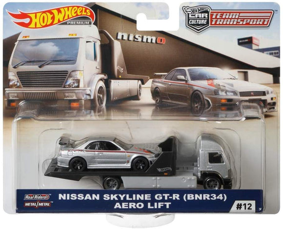 Hot Wheels Nissan skyline GT-R (R34) Aero Lift (Team Transporter Series)