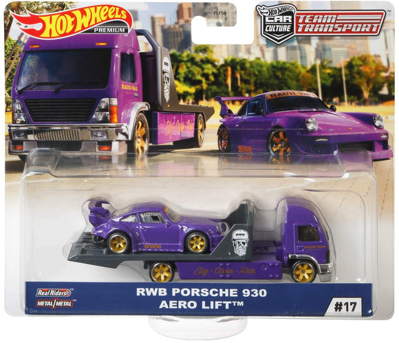 Hot Wheels RWB Porsche 930 Aero Lift (Team Transporter Series)