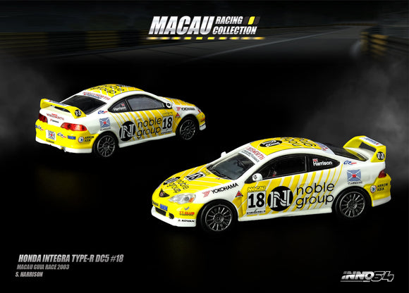 INNO MODELS 1/64 HONDA INTEGRA TYPE-R DC5 #18 - MACAU GP EXCLUSIVE * LIMITED 300 PCS *