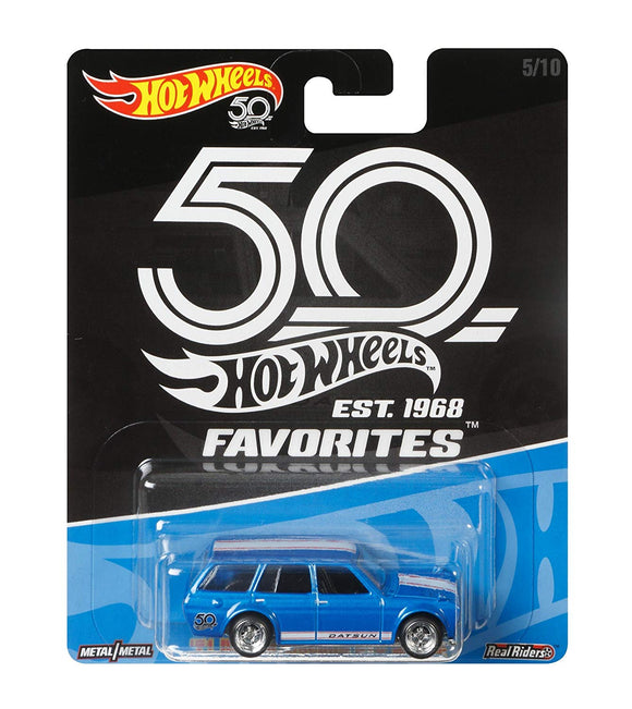 Hot Wheels 50th Anniversary Favorites 71 Datsun Blue Bird 510 Wagon