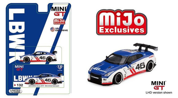 Mini GT #132 Mijo Exclusive 1:64 LB*Works Nissan GT-R #46 Infinity Motorsport