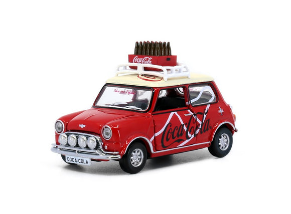 * PRE ORDER * Tiny City Die-cast Model Car - Mini Cooper Mk 1 Coca-Cola (with bottle of coke)