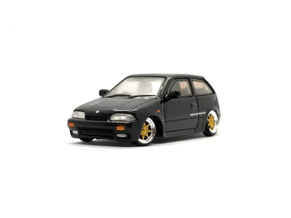 * PRE ORDER * 1/64 BM CREATION SUZUKI SWIFT 1989 - BLK