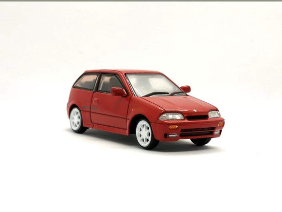 * PRE ORDER * 1/64 BM CREATION SUZUKI SWIFT 1989 - RED