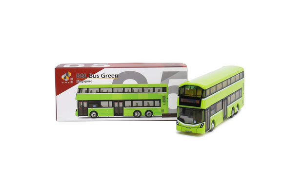 TINY MODEL 1:110 VOLVO B8L GREEN BUS (SINGAPORE)
