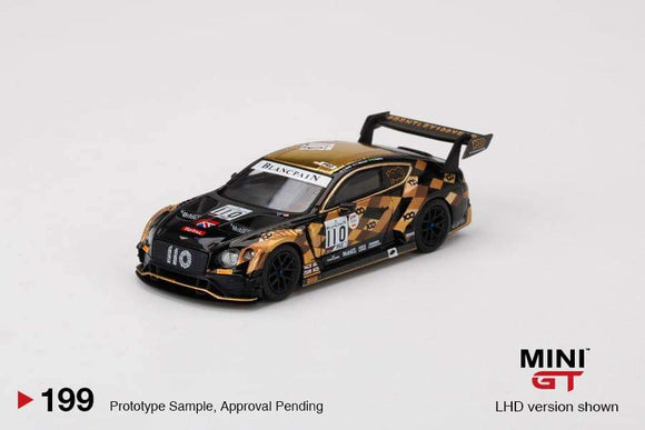 *PRE ORDER * MINI GT #199 1/64 Bentley Continental GT3 #110  2019 Total 24 Hours of Spa M-Sport Team Bentley