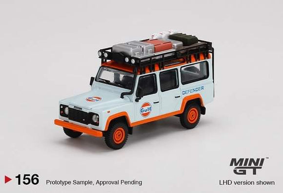 * PRE ORDER* Mini GT 1:64 Mijo Exclusive Land Rover Defender 110 Gulf Livery Limited Edition