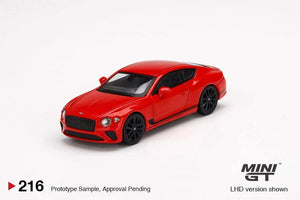 * PRE ORDER* Mini GT #216 1/64 Bentley Continental GT St James Red - RHD